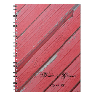 Rustic Red Barn Wood Country Wedding Notebooks