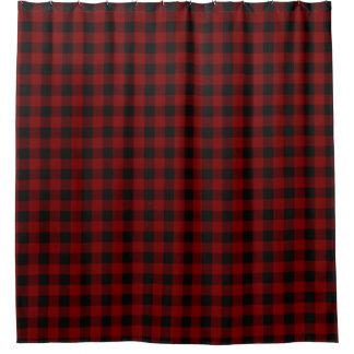 Rustic Red | Black Buffalo Check Plaid Pattern