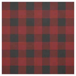 Rustic Red   Black Buffalo Check Plaid Pattern Fabric
