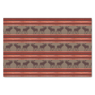 Rustic red brown moose pattern tissue paper