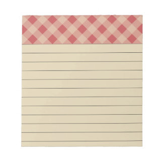 Rustic Red Checkered Notepad