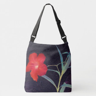 Rustic Red Flower Breeze Crossbody Bag