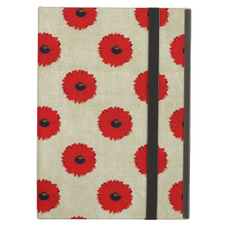 Rustic Red  Flowers Pattern iPad Air Cover