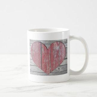 Rustic Red Heart Coffee Mug