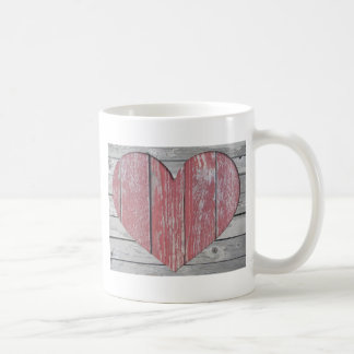 Rustic Red Heart Mug