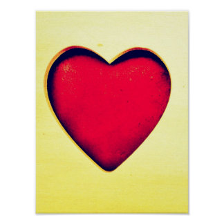 Rustic Red Heart Valentine's Day Love Poster