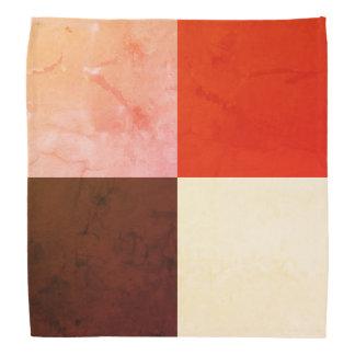 Rustic Red Pink Brown Ivory Bandana