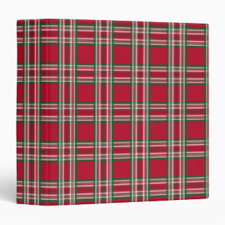 Rustic Red Plaid Christmas Holiday Binder