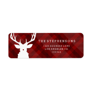 Rustic Red Plaid | Reindeer Address Labels