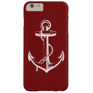 Rustic Red Vintage Anchor Barely There iPhone 6 Plus Case