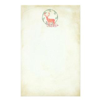 Rustic Reindeer Boho Watercolor Stationery