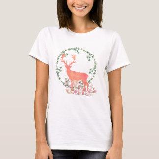 Rustic Reindeer Boho Watercolor T-Shirt