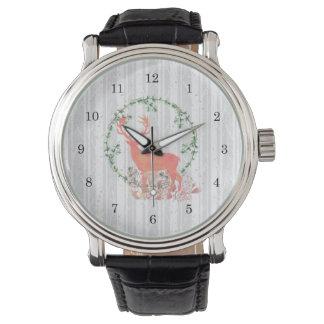Rustic Reindeer Boho Watercolor Watch
