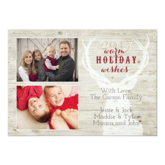 Rustic Reindeer Holiday Card