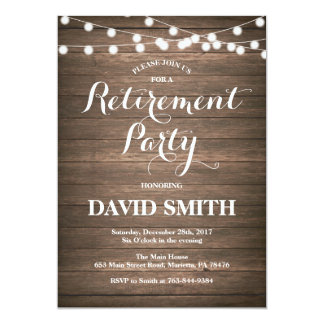 Retirement party invitations announcements zazzle canada rustic retirement party invitation card stopboris Choice Image
