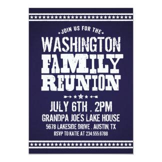 "Rustic Retro Vintage Family Reunion 5"" X 7"" Invitation Card"