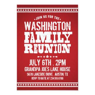 Rustic Retro Vintage Family Reunion 5x7 Paper Invitation Card