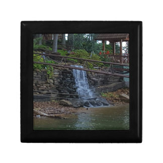 Rustic Rocky Waterfall On the Shoreline of Lake Trinket Boxes