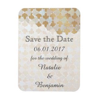 Rustic Romance Wedding | Save the Date Rectangular Photo Magnet