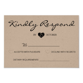 Rustic Romantic Suite Wedding RSVP Card