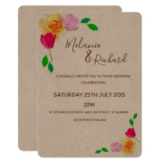 Rustic & Romantic Wedding Invitation