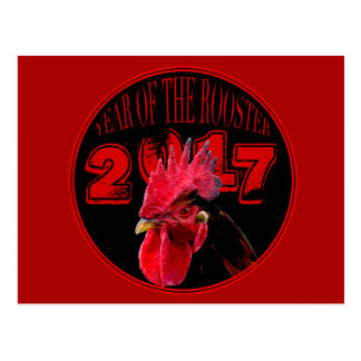 Rustic Rooster Year 2017 postcard
