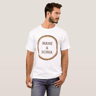 Rustic Rope Country Wedding Burlap T-Shirt