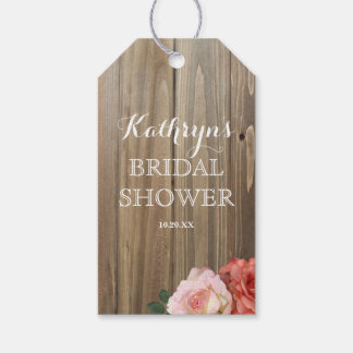 Rustic Roses | Bridal Shower Favor Tags Pack Of Gift Tags