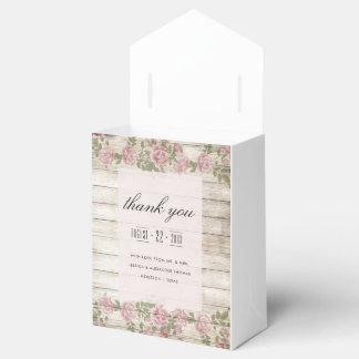 Rustic Roses On Wood Wedding Favor Box