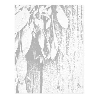 Rustic Sage - black and white Letterhead