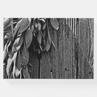 Rustic Sage -grey Guest Book