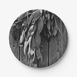 Rustic Sage Paper Plate