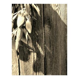 Rustic Sage - warm hue Letterhead