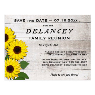 Rustic Save the Date Family Reunion Postcard