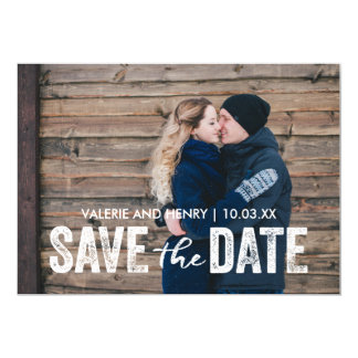 Rustic Save The Date Full Bleed Photo Card