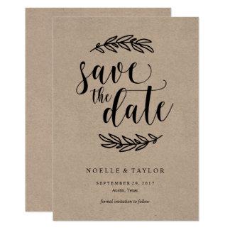 Rustic Save the Date Invitation