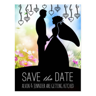 Rustic Save The Date Meadow Spring Flowers Postcard