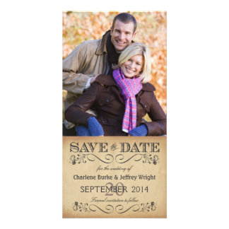 Rustic Save the Date Wedding Photocards Card