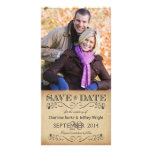 Rustic Save the Date Wedding Photocards Photo Greeting Card