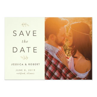 Rustic Save the Date with Photo Card