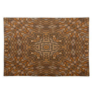 Rustic Scales Colorful Cloth Placemats
