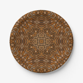 Rustic Scales Colorful Paper Plates 7 Inch Paper Plate