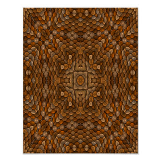 Rustic Scales Colorful Posters
