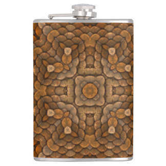 Rustic Scales Colorful Vinyl Wrapped Flasks