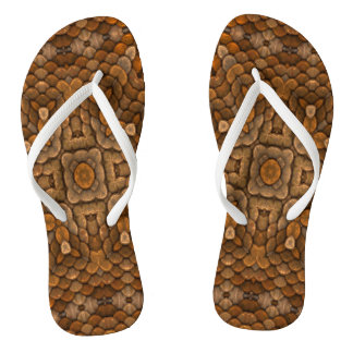 Rustic Scales Day Flip Flops