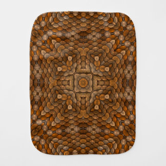 Rustic Scales Kaleidoscope  Burp Cloth