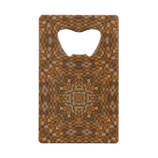 Rustic Scales Kaleidoscope  Credit Card Openers Wallet Bottle Opener