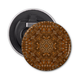 Rustic Scales Kaleidoscope Magnetic Bottle Opener