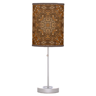 Rustic Scales Kaleidoscope   Table Lamps