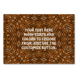 Rustic Scales Kaleidoscope Tablecards Table Cards